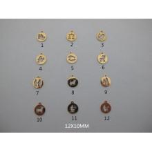 Pendentif signe astrologique en acier inoxydable 10 pcs