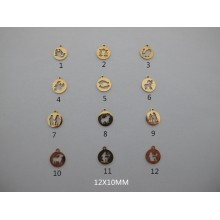 Stainless steel astrological sign pendant 10 pcs