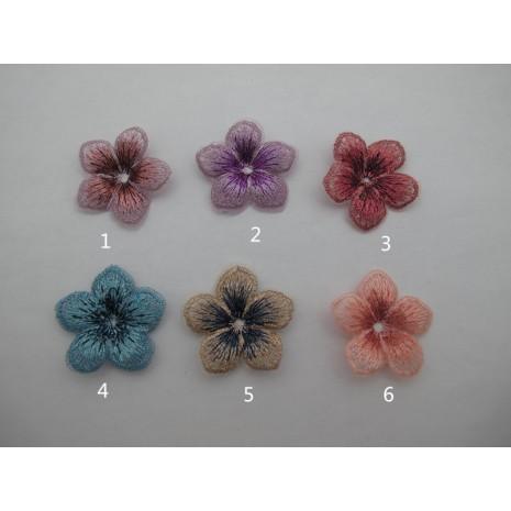10 pcs fleure tissu 35mm