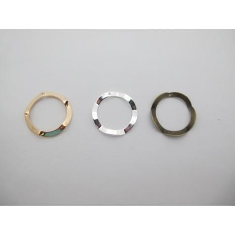 25 pcs cercles 25mm laiton burt