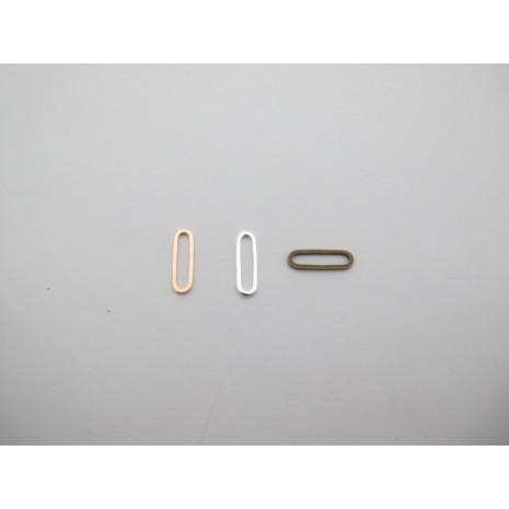150 pcs intercalaires ovales 15x5mm laiton burt