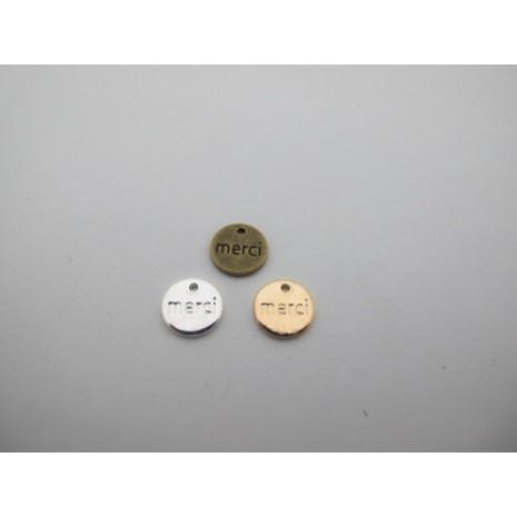 30 pcs sequins ronds 9 mm laiton burt