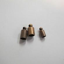 100 Embouts à coller cuivré pour cordon 3mm4mm