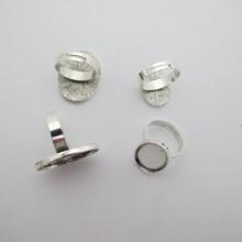 20 Supports bague en Métal pour cabochons ovale 13x18mm/18x25mm