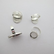 Metal ring holders for oval cabochons 13x18mm/18x25mm - 20 pcs
