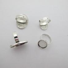 Supports bague en Métal pour cabochons ovale 13x18mm/18x25mm - 20 pcs