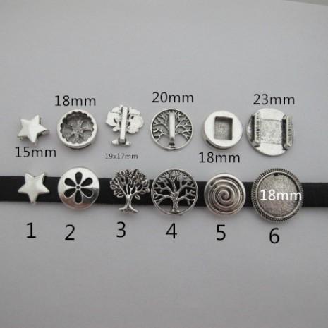 20 passant pour cordon plat 10x2mm