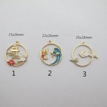 10 pcs pendentif en métal