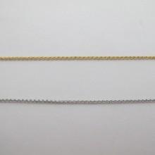 CHAÎNE MAILLE JASERON EN ACIER INOXYDABLE 2mm - 10m