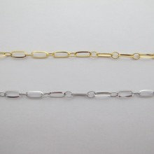 10m rectangle stainless steel chain 9x4mm - 10m