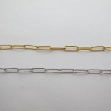 10m rectangle trombone mesh stainless steel chain 12x4x1mm