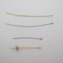 Tige clous tête boule 70mm/40mm