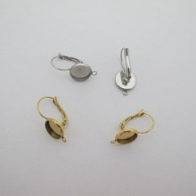 Cabochon Dome Earring with Stainless Steel Fasteners 10mm