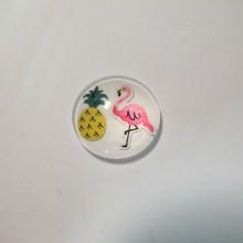 25 Cabochon plat Flamingo rose 20mm