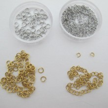 Stainless steel open rings 4x0.6mm/5x0.8mm
