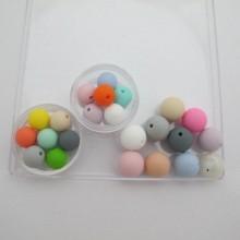 30 pcs perles en silicone 12mm/15mm