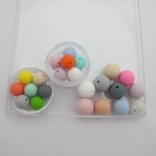 Perles en silicone 12mm/15mm - 30 pcs