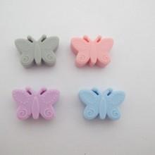 10 pcs perles papillon en silicone 30x20mm