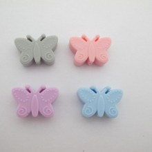 Silicone Butterfly Beads 30x20mm - 10 pcs
