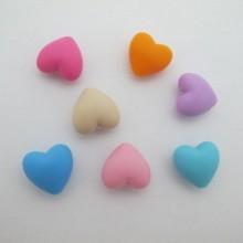 20 pcs perles coeur en silicone 20mm