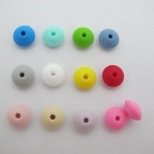 50 pcs perles intercalaire en silicone 12x8mm