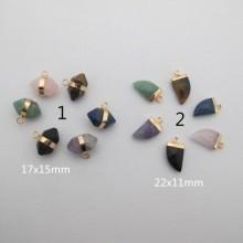 10 pcs Pendentif en pierre semi-précieuse