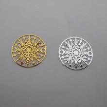 Filigree stamps 20mm - 40 pcs