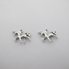 Metal Unicorn Pendants/Patterns 20x18mm - 20 pcs