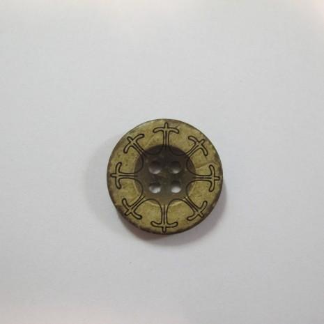 50 pieces Bouton en coco 20mm