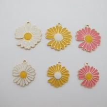 Pendentifs Chrysanthème 25mm/35mm - 10 pcs