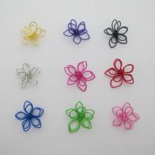 Perles métal fleurs 17mm - 25 pcs