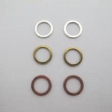 100 pcs anneaux intercalaires 15mm en métal
