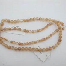 cherry quartz ronde- Fil de 40 Centimetres