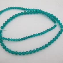 amazonite jade ronde- Fil de 40 Centimetres