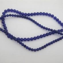 purple jade ronde- Fil de 40 Centimetres