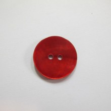 50 Bouton en nacre naturelle 20mm rouge