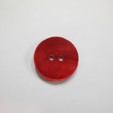 50 Bouton en nacre naturelle 20mm rouge