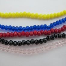 Perles facettées 3mm  en verre-Fil de 38 Centimetres