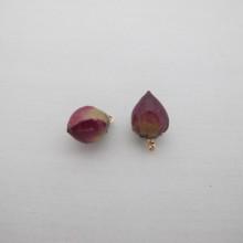 6 pcs pendentif fleurs rose 8-12mm