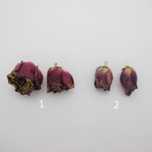 6 pcs pendentif fleurs rose 14-24mm