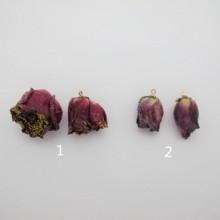 Pink Flower Pendant 14-24mm - 6 pcs