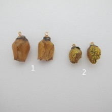 6 pcs pendentif fleur 10-15mm