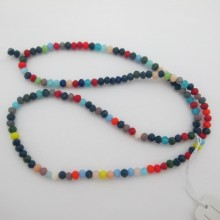 Perles facettées en verre 4mm-Fil de 48 Centimetres