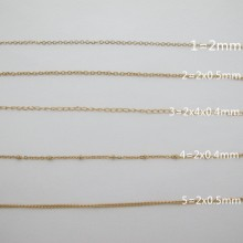 Stainless steel gold chain 10m