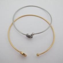 5 pieces Bracelet serti pour cabochon rond 8mm en acier inox