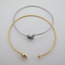 Bracelet set for stainless steel round cabochon 8mm - 5 pcs