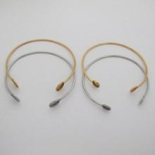 5 pieces Bracelet serti pour cabochon rond 8mm/10mm en acier inox