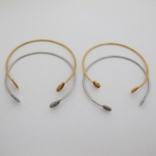 Bracelet set for stainless steel round cabochon 8mm/10mm - 5 pcs