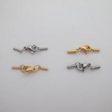 Fermoir pour coller du cordon 1mm/1.50mm en acier inox