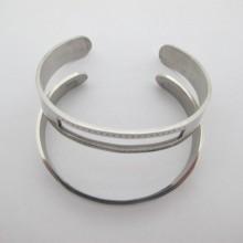 2 pieces Bracelet  10x150mm en acier inox  pas de trous